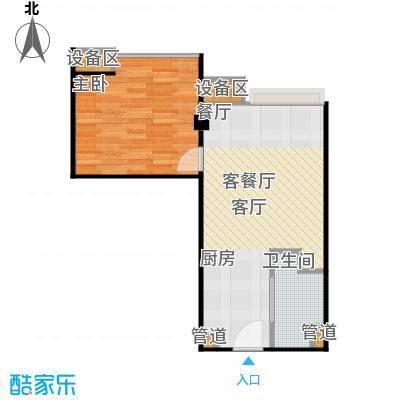 东城国际公寓915单位户型