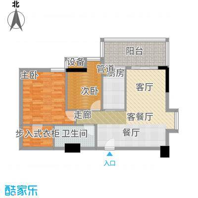 雅居乐君域公馆88.00㎡G户型