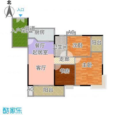 东银广场户型3室1卫1厨