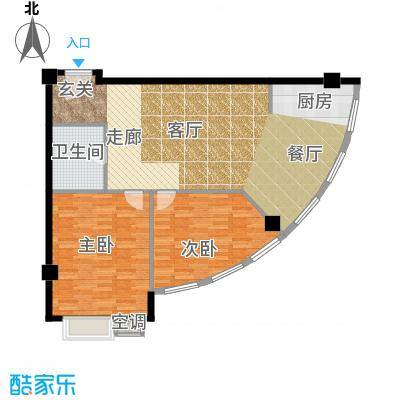 万安国际公寓户型2室1厅1卫