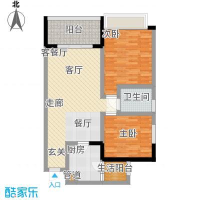 润锦・御珑山御珑山84.90㎡润锦御珑山一期5号楼标准层C4御景上居户型