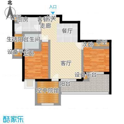 名润・时代广场82.00㎡一期6号楼标准层B户型