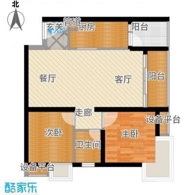 北城乐章建工・北城乐章62.95㎡一期单体楼标准层G户型