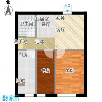 千缘爱语城49.00㎡F户型