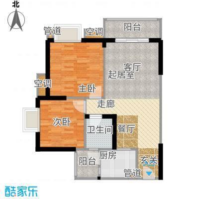 祺山・品阁59.85㎡房型户型