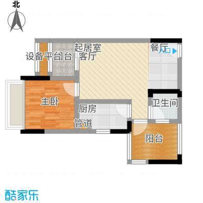 城市童话43.62㎡一期单体楼标准层D户型