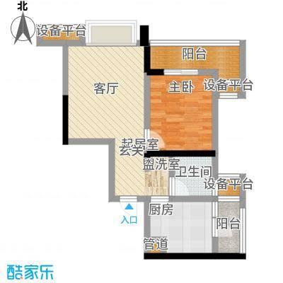 盛世明珠45.64㎡一期6号楼标准层8号房户型