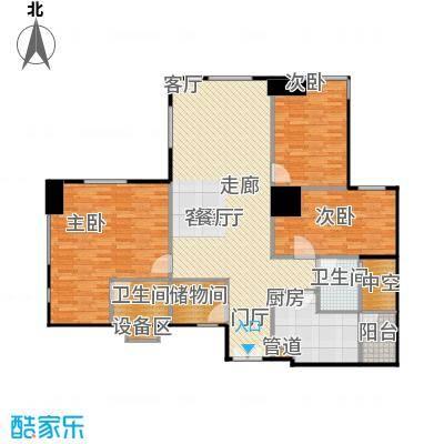 长江广场132.36㎡房型户型