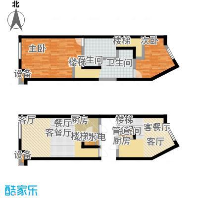 开建阳光馨苑户型2室2厅2卫