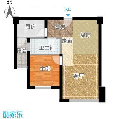 左林右舍46.62㎡房型户型