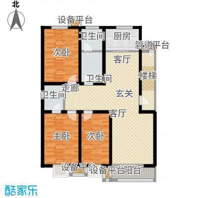 神奇庭院户型3室1厅3卫1厨