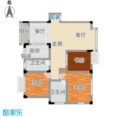 天一顺和康城105.47㎡房型户型