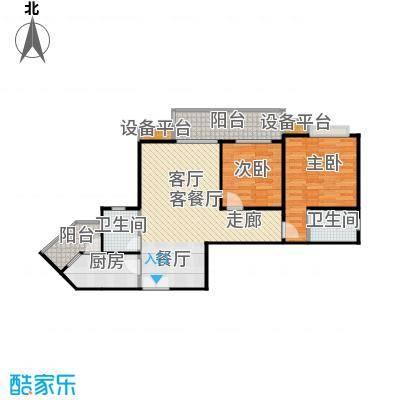 晋愉・九龙湾76.20㎡房型户型