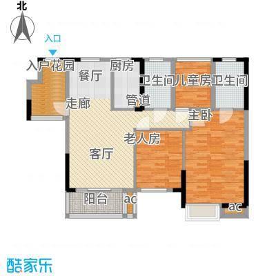 怡丰映�明轩5-8栋C2户型
