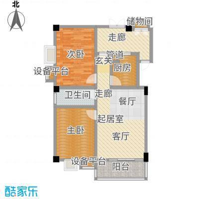 美景苑77.85㎡俊景阁A座5-9层02单元户型