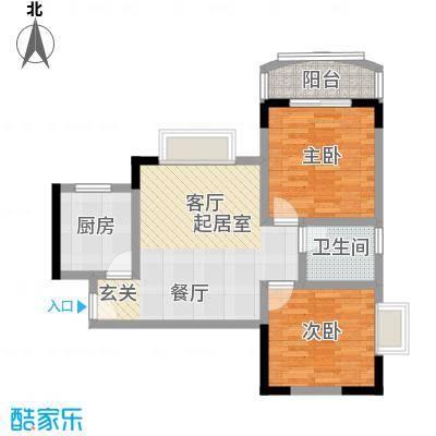 龙脊万兴家园65.51㎡房型户型