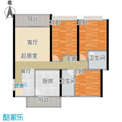 贵格・和顺苑82.58㎡房型户型