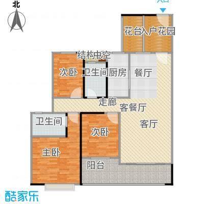 广电大德路项目兰亭�濠大厦122.84㎡T2-02单元户型