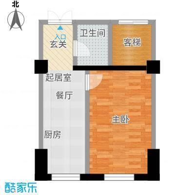 府兴苑39.00㎡房型户型
