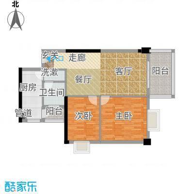 仁和世家82.00㎡房型户型