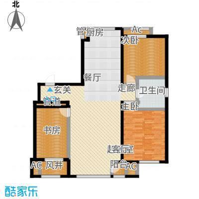 颐和香榭121.00㎡一书房户型