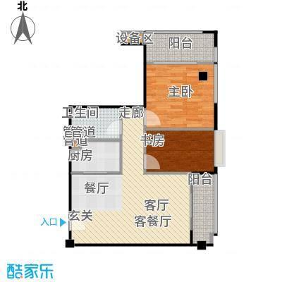 东城国际公寓916单位户型