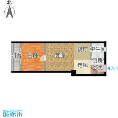 万安国际公寓39.00㎡房型户型