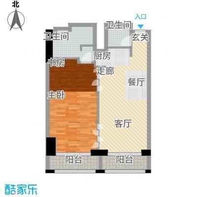 新中源国际商务公寓101.00㎡1座08/09单元户型