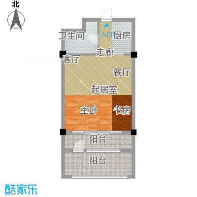 亚泰桂花苑77.00㎡迷你洋房户型