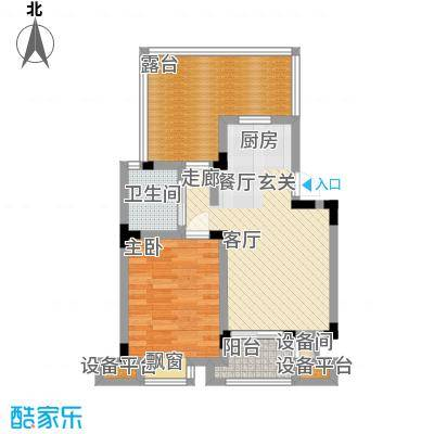 乾和福邸61.22㎡一期5号楼1-5层C5户型
