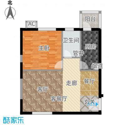 渭水茗居65.73㎡A户型