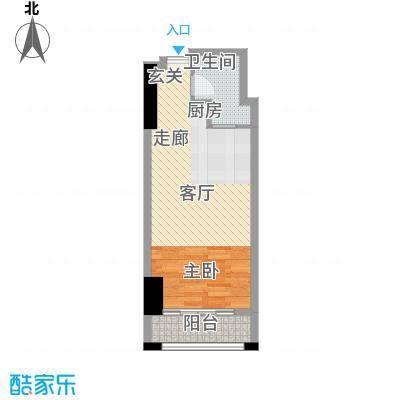 新中源国际商务公寓53.00㎡1座09、10单位户型