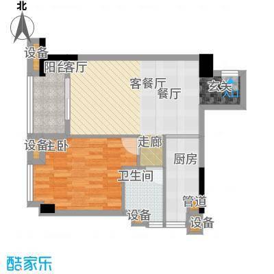 雅居乐君域公馆64.00㎡B户型