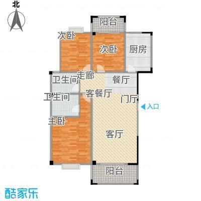 五里汉城113.00㎡房型户型
