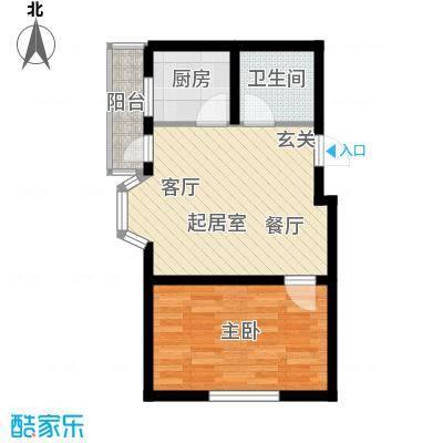 金玉华庭44.00㎡房型户型