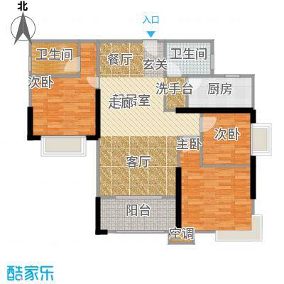 滨江瑞城102.92㎡C栋01户型