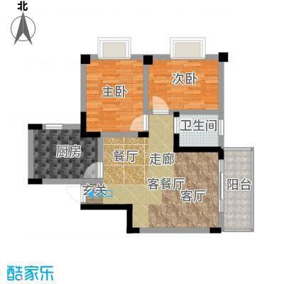 阳城景园户型2室1厅1卫1厨