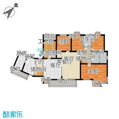 城建花园户型4室2厅3卫1厨