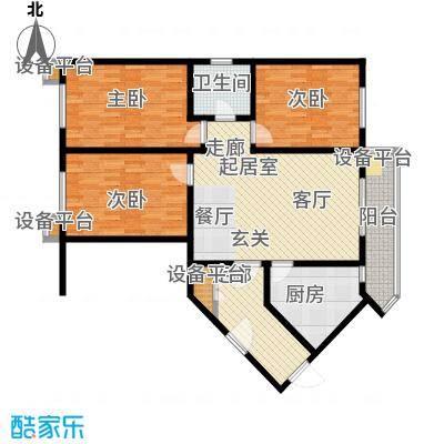 府兴苑128.00㎡房型户型
