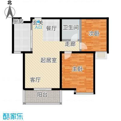 枫林华府85.00㎡枫香园户型