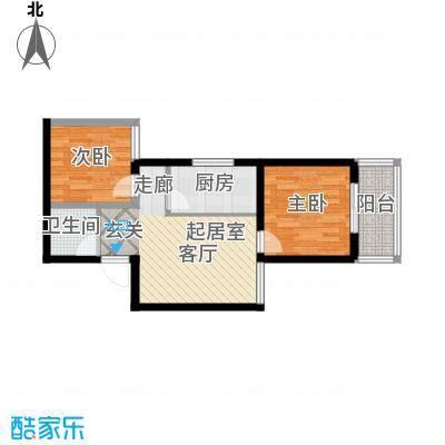 国际幸福城68.76㎡二期珑原宠润2、3号楼F户型