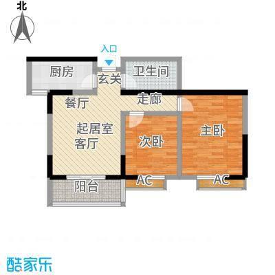 华宇上领国际公寓82.47㎡2#D户型