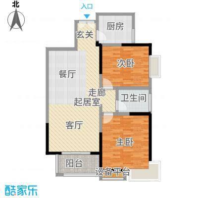 龙记帝景湾88.10㎡A户型
