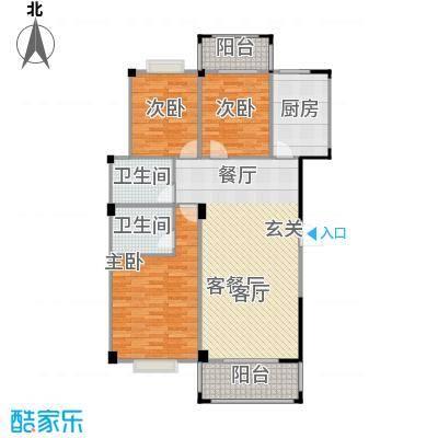五里汉城户型3室1厅2卫1厨