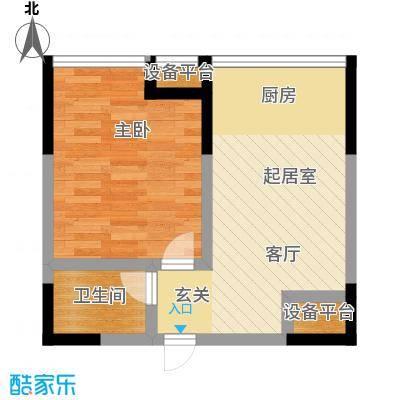 锦翔梧桐坊52.12㎡A1户型