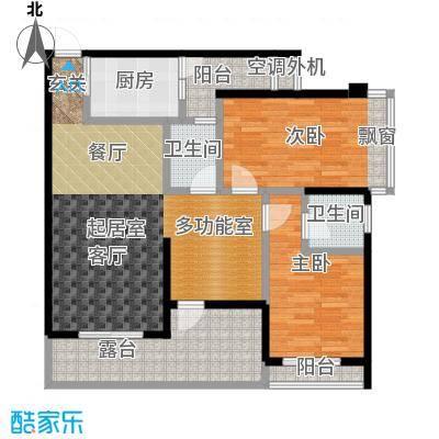 南湾江上90.75㎡一期单体楼标准层A5户型
