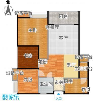 名润・时代广场一期6号楼标准层A户型