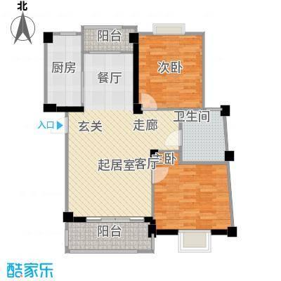 国信馨园香樟水岸60.00㎡房型户型