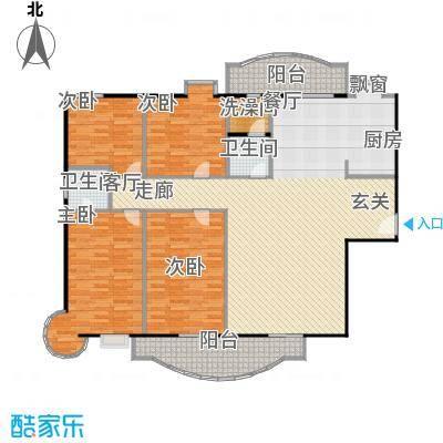 东方江景园151.20㎡房型户型