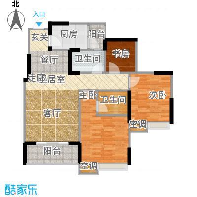 寓乐圈永缘・寓乐圈77.78㎡一期电梯小高层10号楼标准层C户型